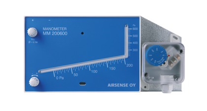 MM/PS Combination of manometer and differential pressure switch